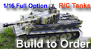 We Welcome Special Commissions of Tamiya 1/16 Full Option R/C Tanks Built to Order !